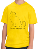 Youth Yellow Birmans Are People Too! - Cat Breed Lover Parent Owner Gift T-shirt