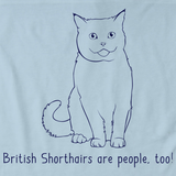 British Shorthairs Are People Too! Light blue Art Preview