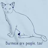 Burmese Are People Too! Light blue Art Preview