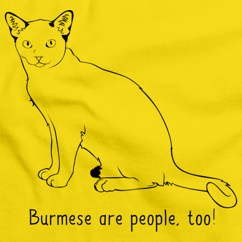 Burmese Are People Too! Yellow Art Preview
