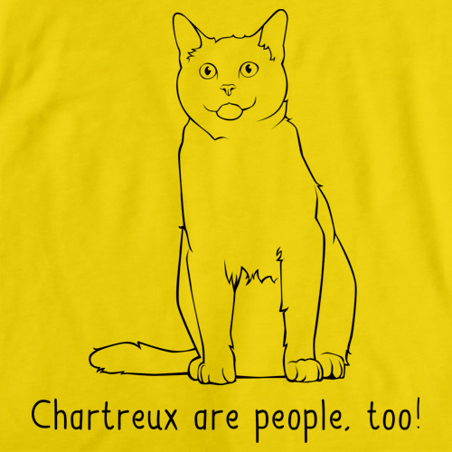 Chartreux Are People Too! Yellow Art Preview
