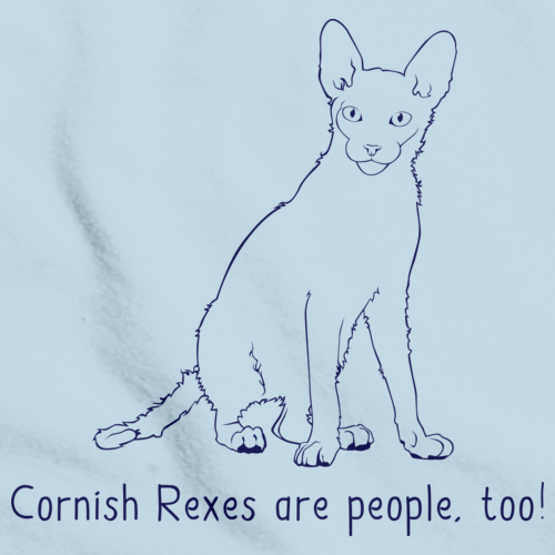 Cornish Rexes Are People Too! Light blue Art Preview