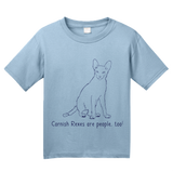 Youth Light Blue Cornish Rexes Are People Too! - Cat Breed Lover Parent Owner T-shirt