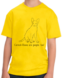 Youth Yellow Cornish Rexes Are People Too! - Cat Breed Lover Parent Owner T-shirt