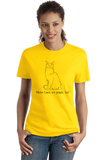 Ladies Yellow Maine Coons Are People Too! - Cat Breed Lover Parent Owner T-shirt