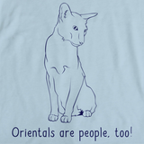 Orientals Are People Too! Light blue Art Preview