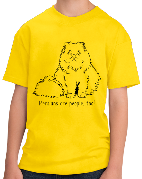 Youth Yellow Persians Are People Too! - Cat Breed Lover Parent Owner Gift T-shirt
