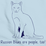 Russian Blues Are People Too! Light blue Art Preview