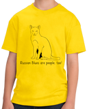 Youth Yellow Russian Blues Are People Too! - Cat Breed Lover Parent Owner T-shirt