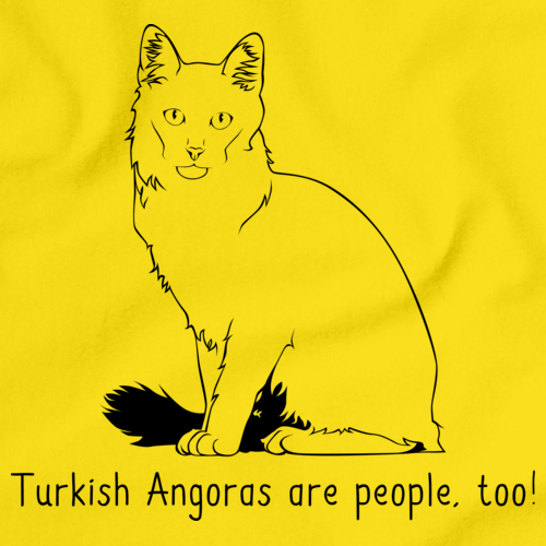 Turkish Angoras Are People Too!  Yellow Art Preview
