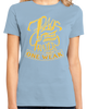 Ladies Light Blue 7 Days Without Prayer Makes One Weak - Christian Pun Funny T-shirt