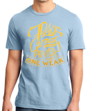 Standard Light Blue 7 Days Without Prayer Makes One Weak - Christian Pun Funny T-shirt
