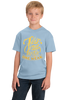 Youth Light Blue 7 Days Without Prayer Makes One Weak - Christian Pun Funny T-shirt