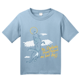 Youth Light Blue Dyslexic Friend Helped Me Find Dog - Christian Salvation Humor T-shirt