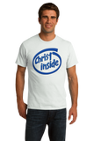 Standard White Christ Inside - Funny Modern Christian Faith Humor T-shirt