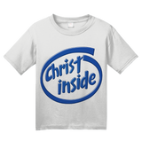 Youth White Christ Inside - Funny Modern Christian Faith Humor T-shirt