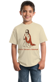 Youth Natural Christ Answers Kneemail - Funny Christian Humor Pun Jesus Prayer T-shirt