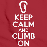 Keep Calm And Climb On  | Rock Climbing Humor Red Art Preview