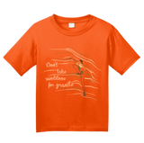 Youth Orange Don't Take Sandstone For Granite - Rock Climber Humor Pun Funny T-shirt