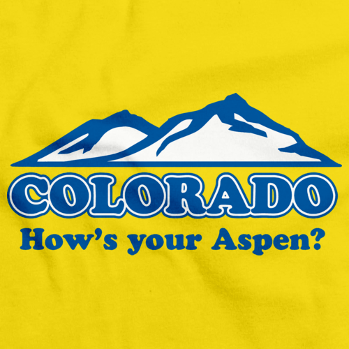 "COLORADO ""HOW'S YOUR ASPEN""? Yellow art preview"