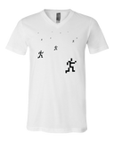 V Neck White Computer Games Sprite T-shirt