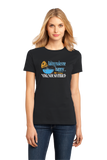 Ladies Black Baking Makes Me Happy, You Not So Much - Sarcastic Baker Funny T-shirt