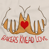 Bakers Knead Love - Baker Humor Pun Funny Dough Bread Cake Pie Natural Art Preview