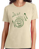 Ladies Natural Try Organic Food (Your Grandparent's Food)- Foodie Farm-to-Table T-shirt