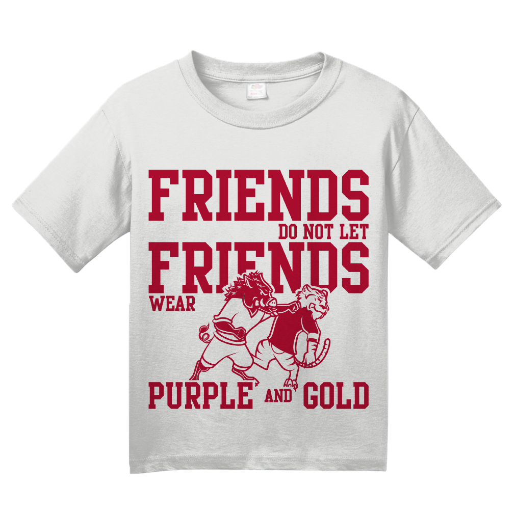 Youth White Football Fan from Arkansas T-shirt