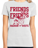 Ladies White Football Fan from Arkansas T-shirt