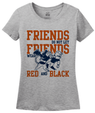 Ladies Grey Lee County, AL Football Fan T-shirt