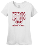 Ladies White Football Fan from Alabama T-shirt