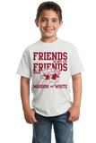 Youth White Football Fan from Alabama T-shirt