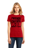 Ladies Red Football Fan from Georgia T-shirt