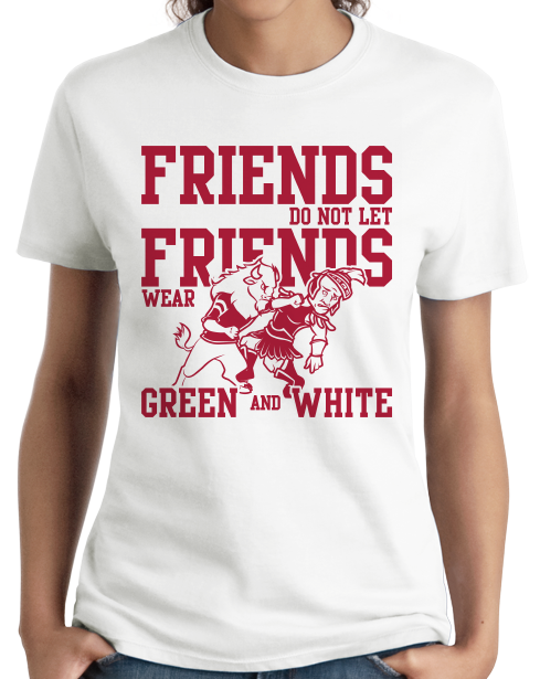 Ladies White INDIANA FOOTBALL FAN TEE T-shirt