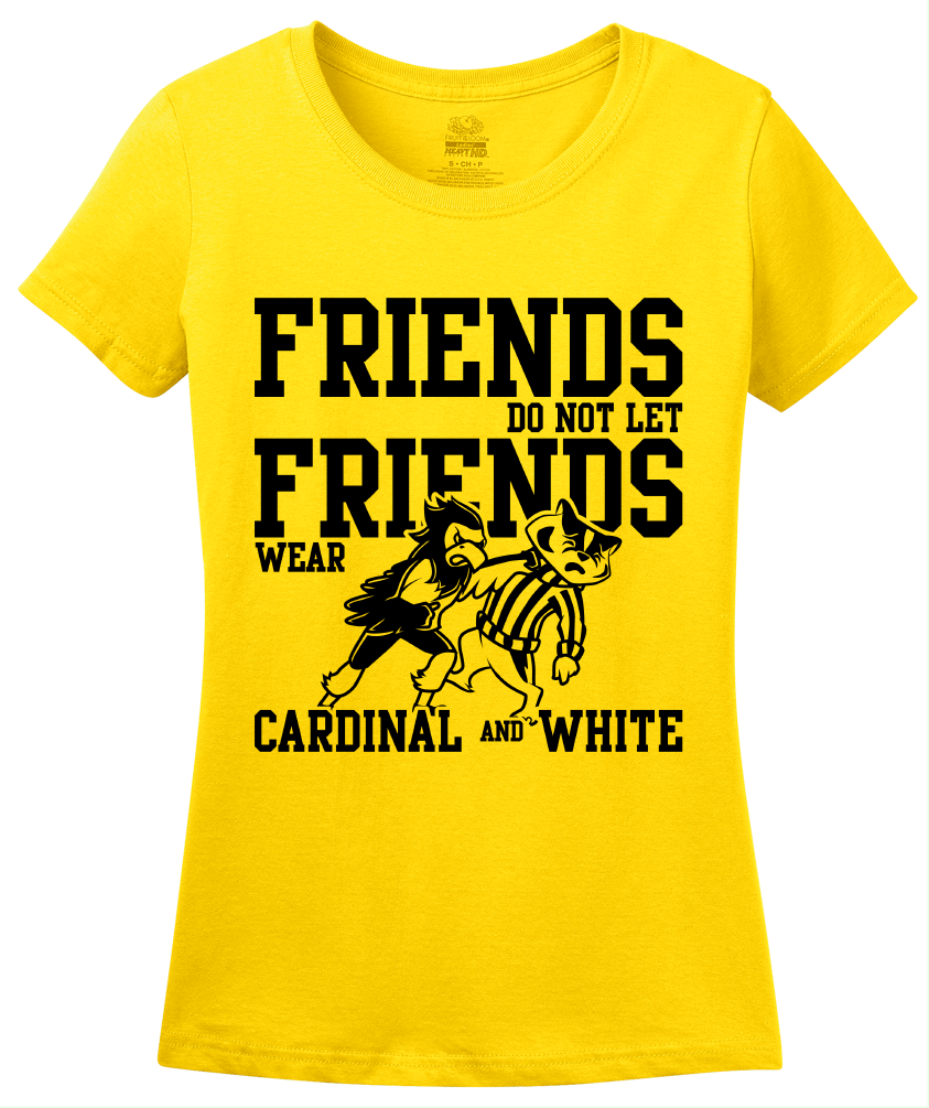 Ladies Yellow IOWA FOOTBALL FAN TEE T-shirt