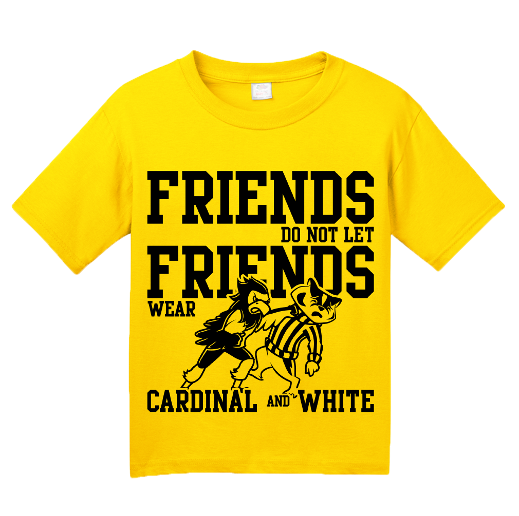 Youth Yellow IOWA FOOTBALL FAN TEE T-shirt