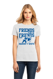 Ladies White Football Fan from Kentucky T-shirt