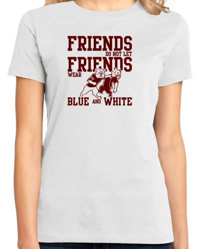 Ladies White Football Fan from Mississippi T-shirt