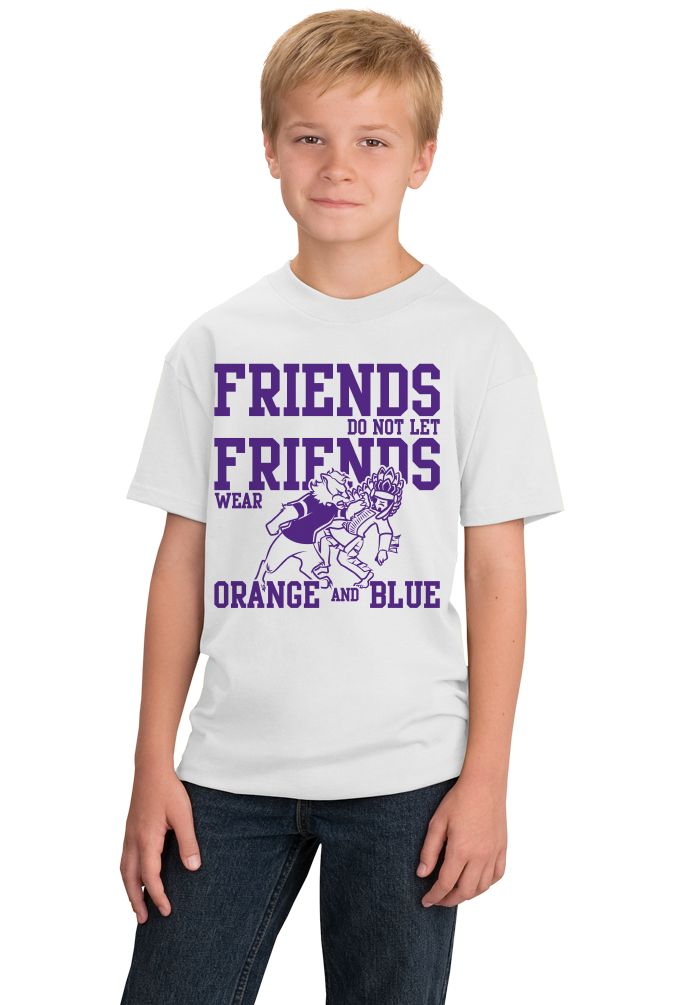 Youth White EVANSVILLE FOOTBALL FAN TEE T-shirt