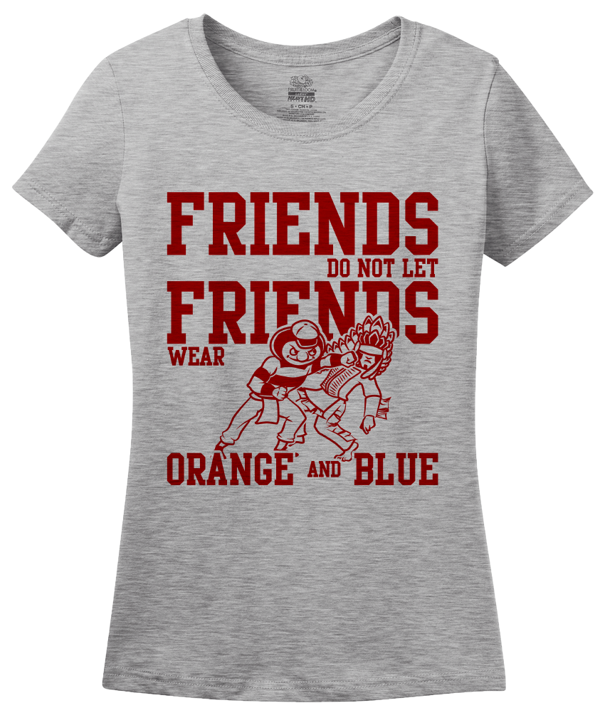 Ladies Grey OHIO FOOTBALL FAN TEE T-shirt