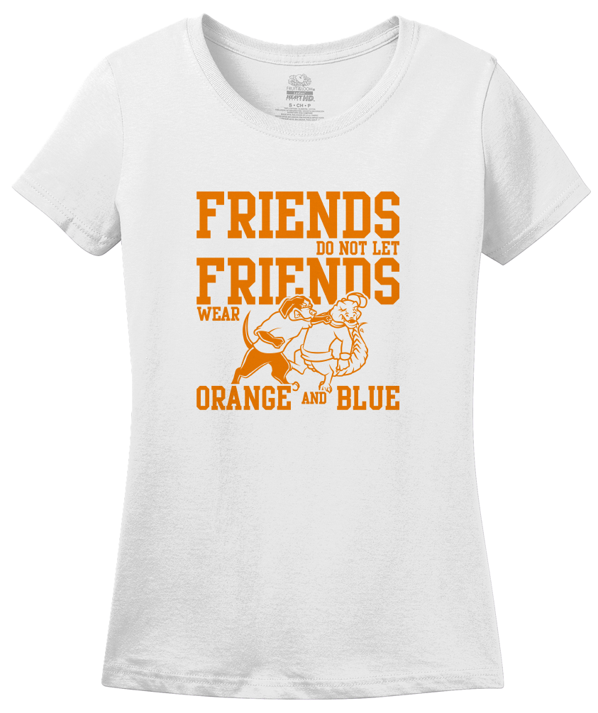 Ladies White Football Fan from Tennessee T-shirt