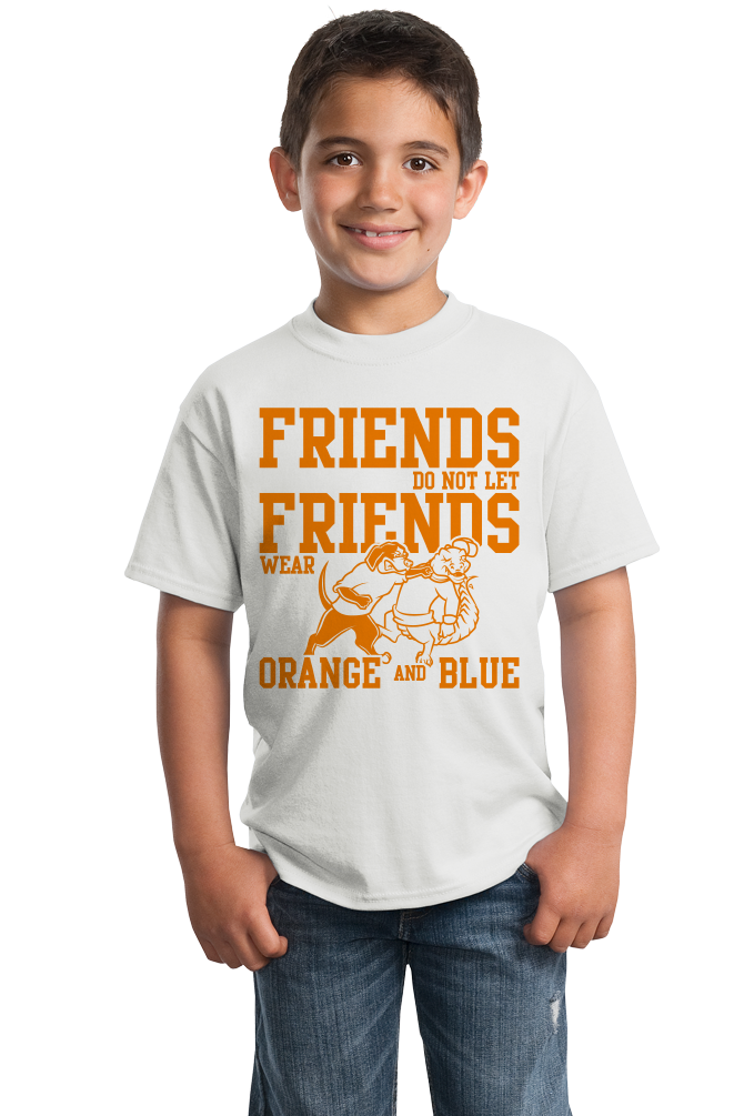 Youth White Football Fan from Tennessee T-shirt
