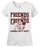 Ladies White Football Fan from Texas T-shirt