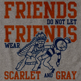 ILLINOIS FOOTBALL FAN TEE Grey art preview