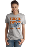 Ladies Grey ILLINOIS FOOTBALL FAN TEE T-shirt