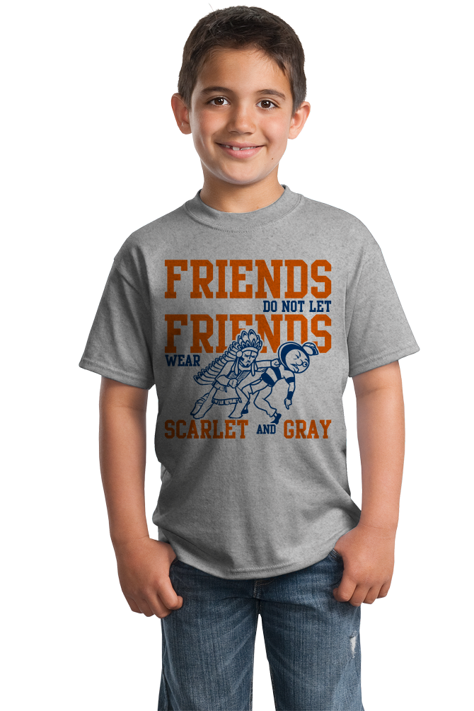 Youth Grey ILLINOIS FOOTBALL FAN TEE T-shirt