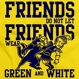 MICHIGAN FOOTBALL FAN TEE Yellow art preview