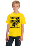 Youth Yellow MICHIGAN FOOTBALL FAN TEE T-shirt
