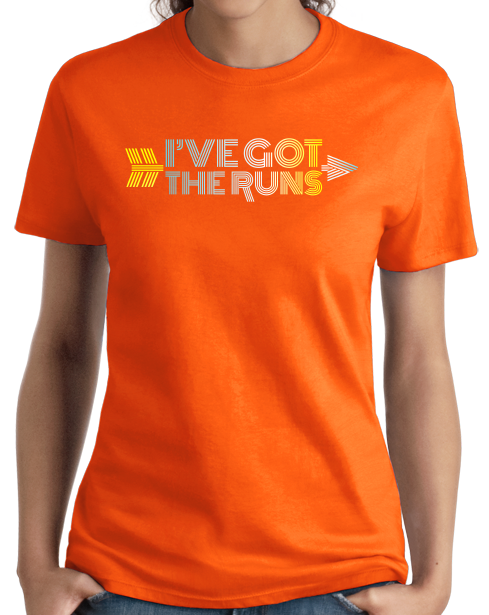 Ladies Orange Cross Country: I've Got The Runs - Distance Runner Cross Country T-shirt